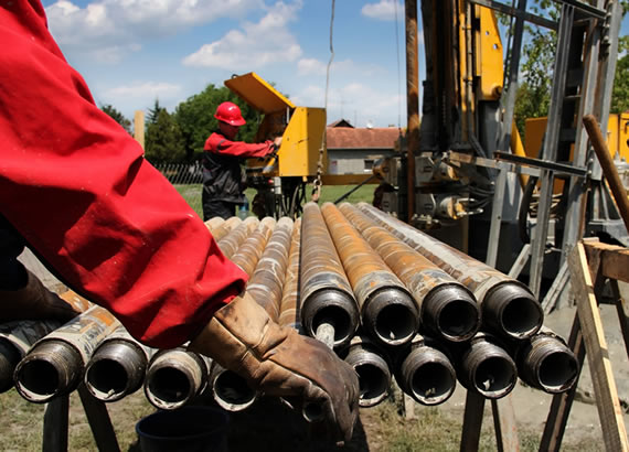 Exploration boreholes and Dry drilling